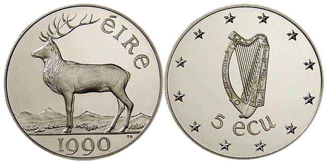 The 1990 Irish Presidency Ecu Coins